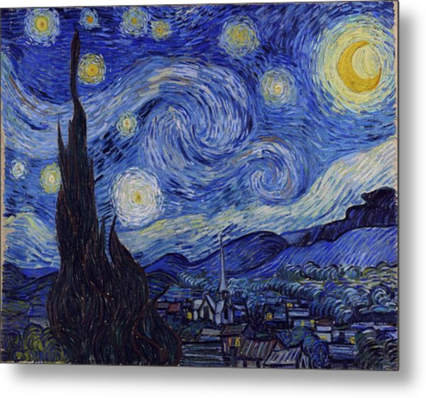 Metal Print featuring the painting Starry Night by Van Gogh
