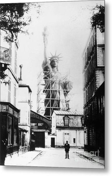 Statue Of Liberty, Paris Metal Print
