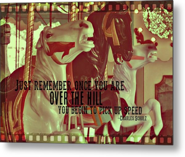 Striking Carousel Quote Metal Print by JAMART Photography