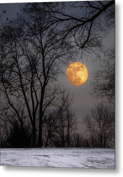 Super Blue Moon Rising Metal Print
