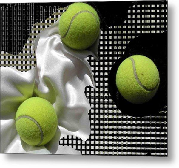 3 Tennis Balls Metal Print