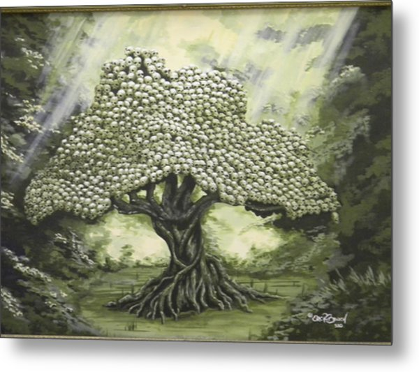 Tree Of Skulls Metal Print by Eric Barich