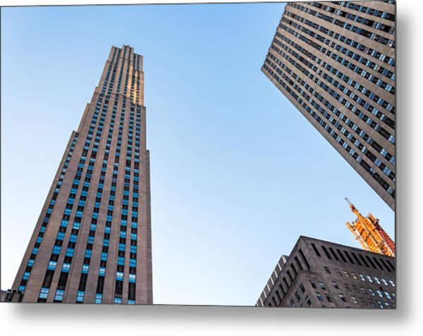 Metal Print featuring the photograph 30 Rock by Alison Frank
