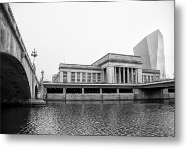 30th Street Station And The Cira Center From The River Walk Metal Print