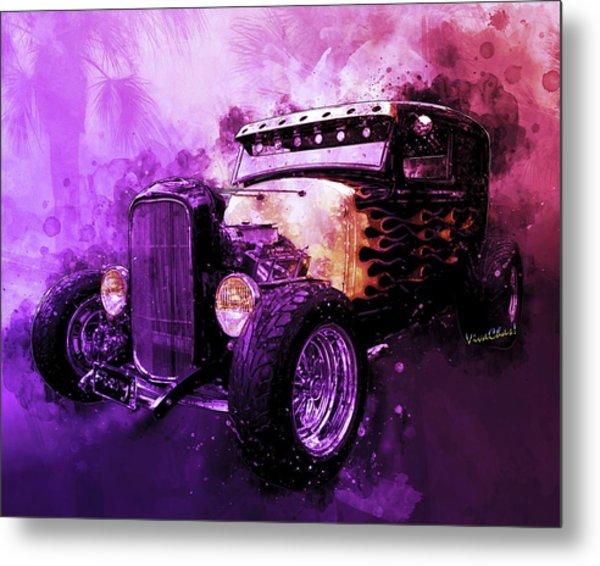 31 Ford Model A Fiery Hot Rod Classic Metal Print