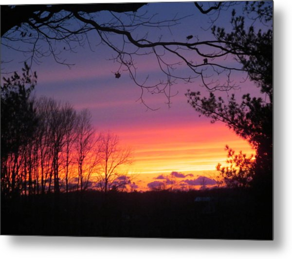 31 Oct 2012 Sunset Two Metal Print