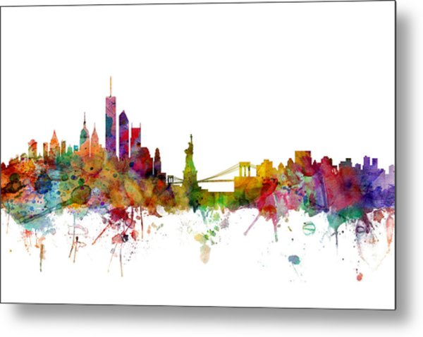 New York Skyline Metal Print