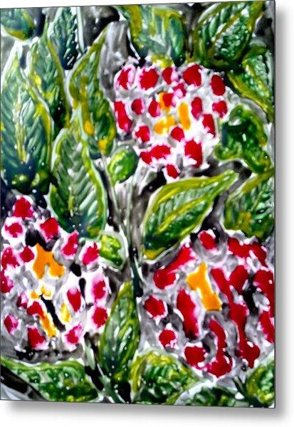 Divine Flowers Metal Print by Baljit Chadha
