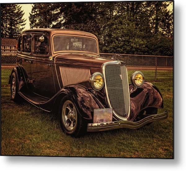 Cool 34 Ford Four Door Sedan Metal Print