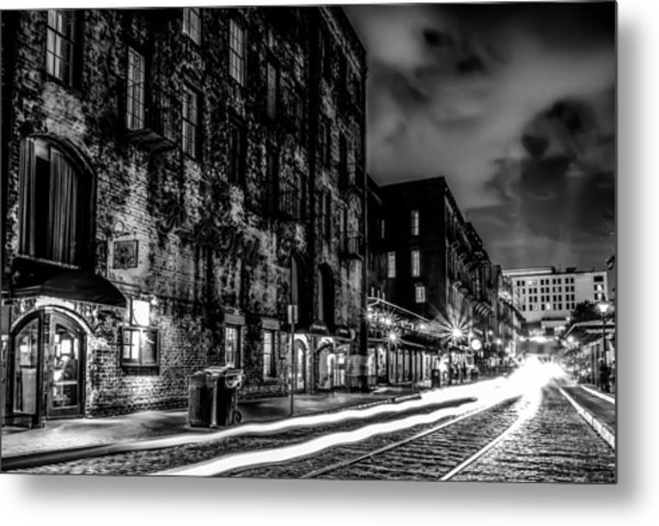 Savannah Georgia Waterfront And Street Scenes  Metal Print