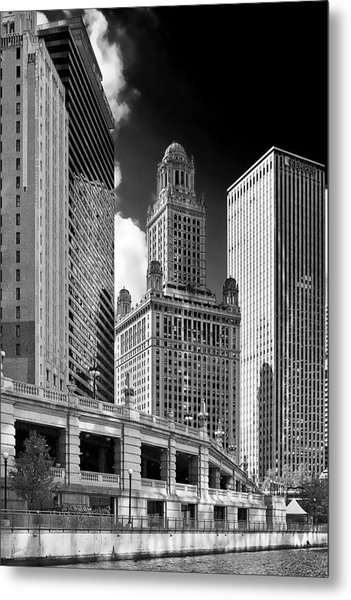 35 East Wacker Chicago - Jewelers Building Metal Print