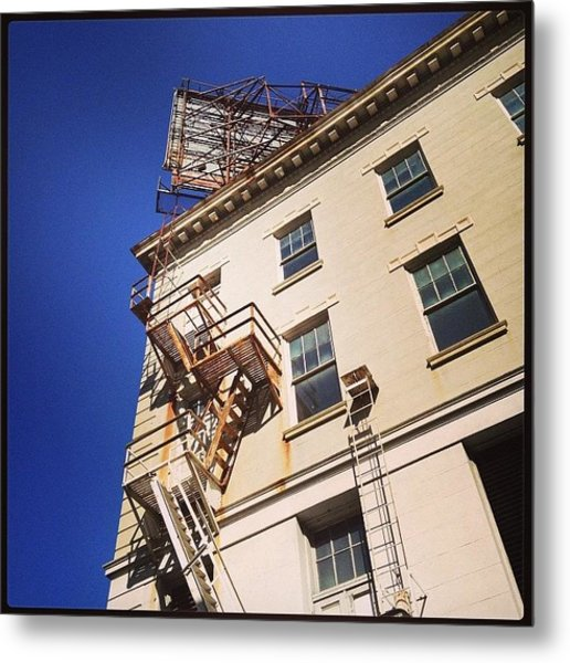Blue Sky And Stairs Metal Print