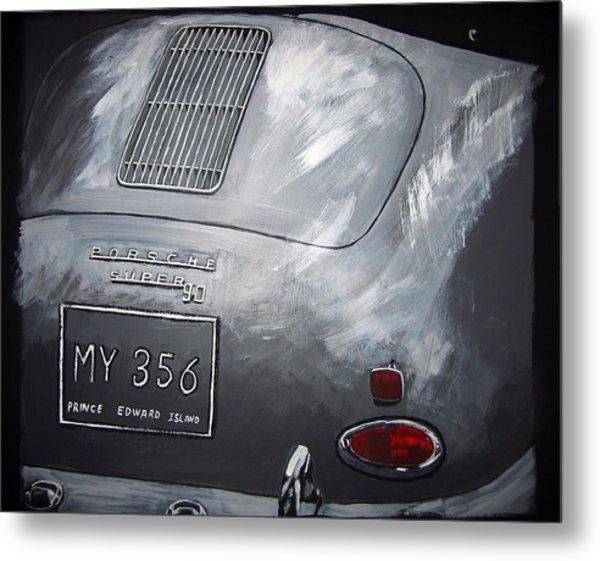356 Porsche Rear Metal Print