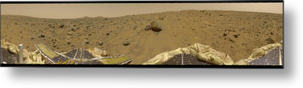 360 Degree Panorama Mars Pathfinder Landing Site Metal Print