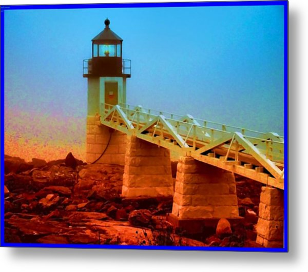 3600001  Maine Lighthouse Metal Print by Ed Immar