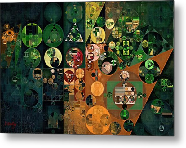 Abstract Painting - Dark Jungle Green Metal Print