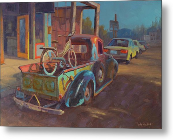 38' Ford In Jerome, Az Metal Print