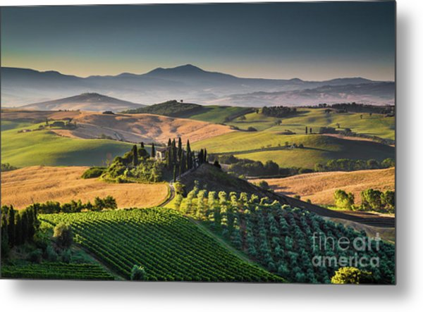 A Morning In Tuscany Metal Print