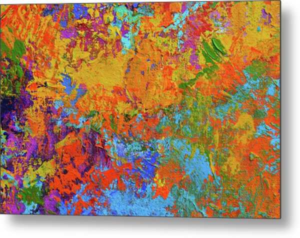 Abstract Painting Modern Art Contemporary Design Metal Print