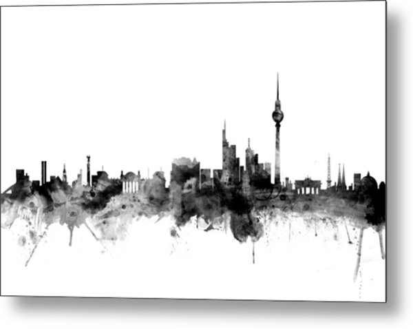 Berlin Germany Skyline Metal Print