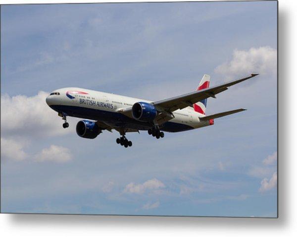 British Airways Boeing 777 Metal Print