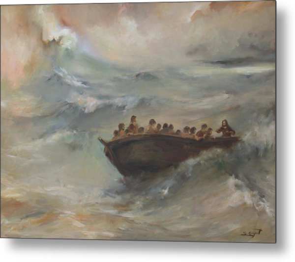 Calming The Storm Metal Print