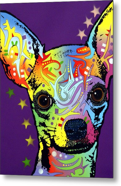 Chihuahua Warrior Metal Print