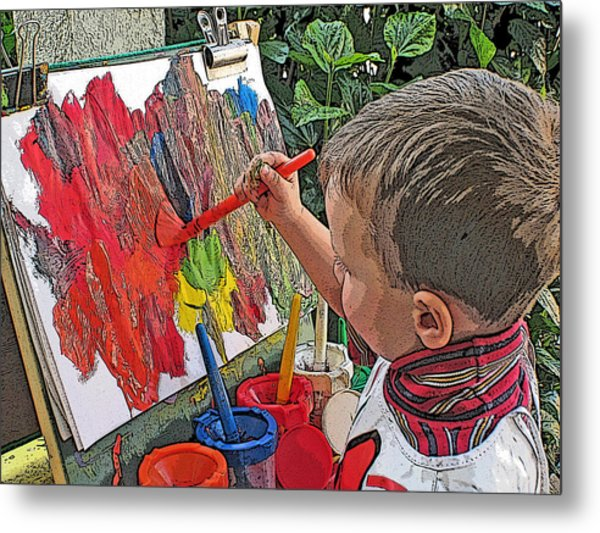 Children Series Metal Print by Ginger Geftakys