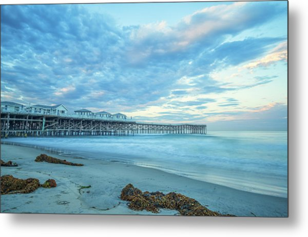 Cloud Cover Over Crystal Pier Metal Print