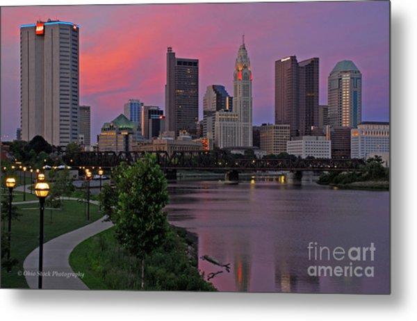 D2l37 Columbus Ohio Skyline Photo Metal Print