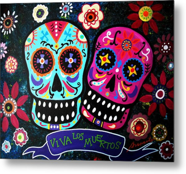 Couple Day Of The Dead Metal Print