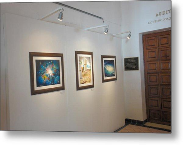 Exhibition Cozumel Museum Metal Print by Angel Ortiz