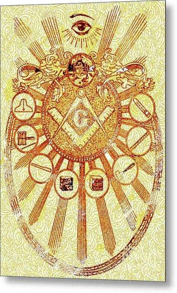 Freemason Symbolism Metal Print