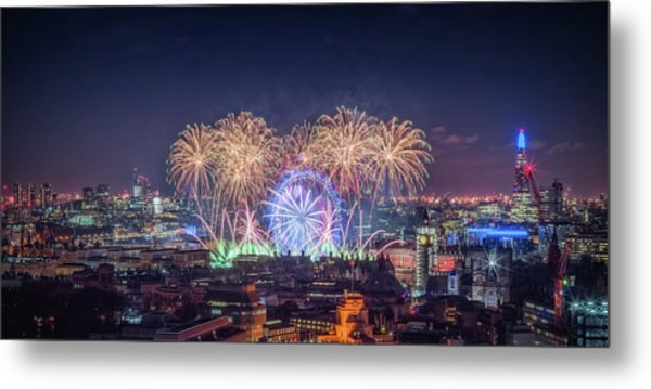 Happy New Year London Metal Print