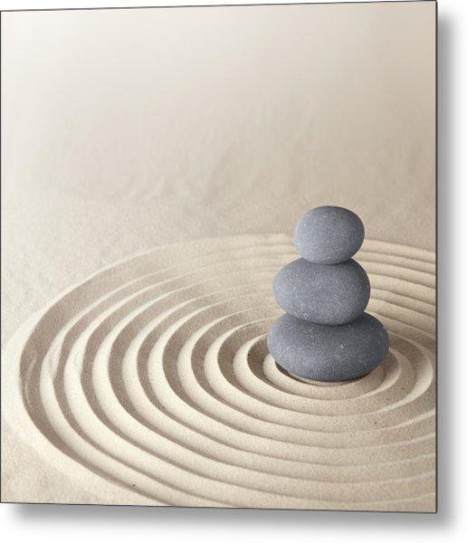 Japanese Zen Garden Metal Print