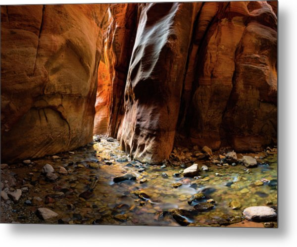 Kanarra Slot Canyon Metal Print