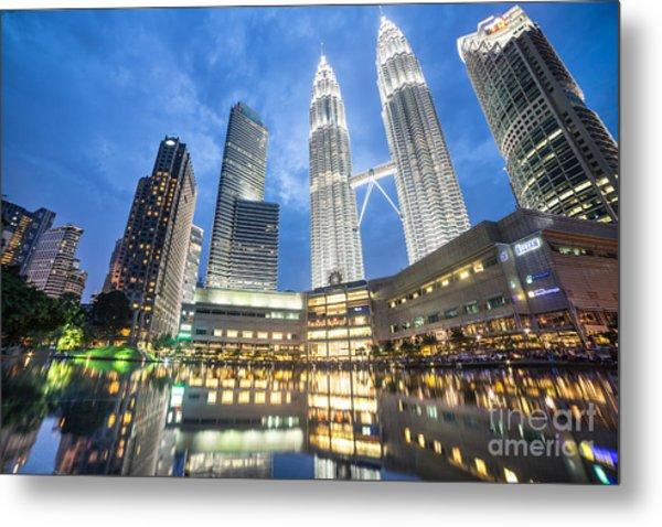 Kuala Lumpur Petronas Towers Metal Print