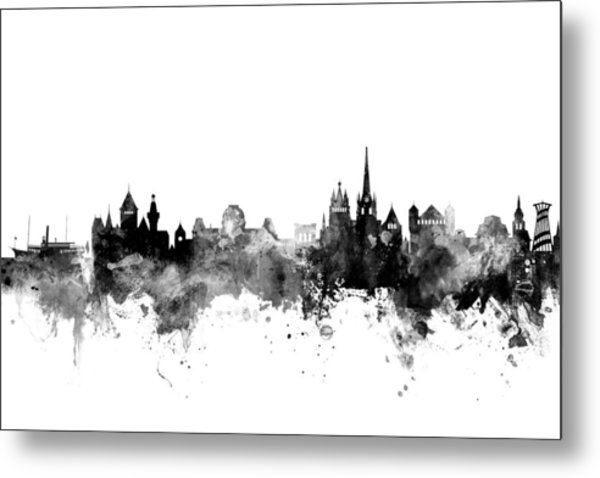 Lausanne Switzerland Skyline Metal Print