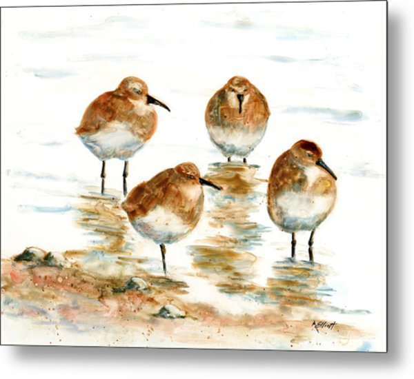 4 Little Pipers Metal Print