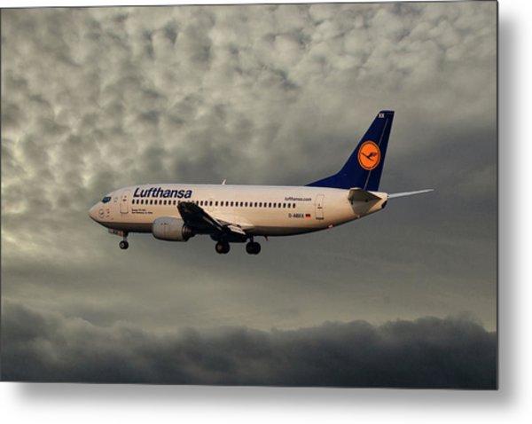 Lufthansa Boeing 737-300 Metal Print