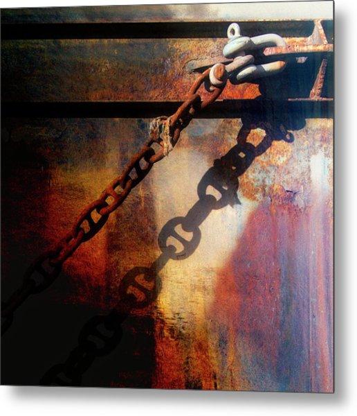Nautical Industrial Art Square Metal Print