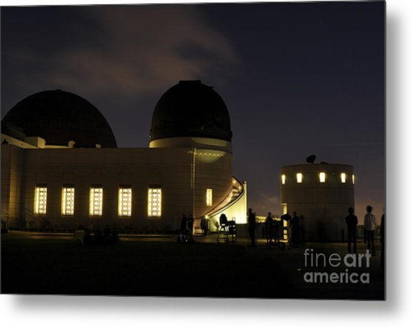 Night At Griffeth Observatory Metal Print