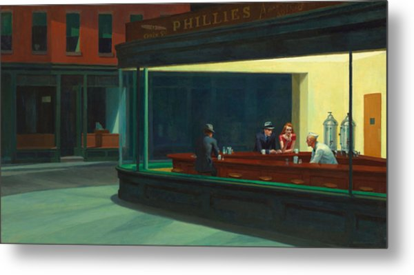 Nighthawks Metal Print