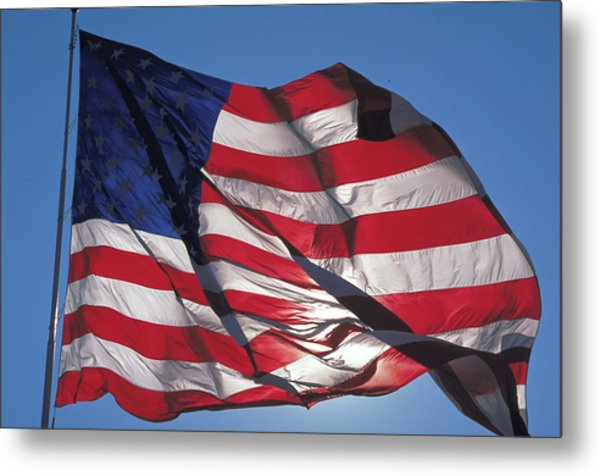 Old Glory Metal Print by Carl Purcell