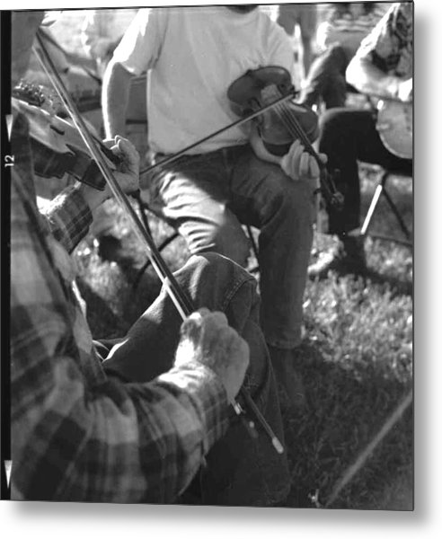 Old Timey Fiddle Session Metal Print