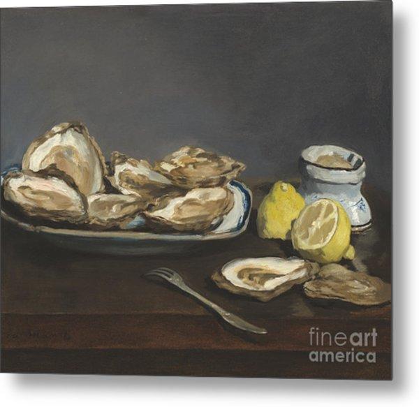 Oysters Metal Print