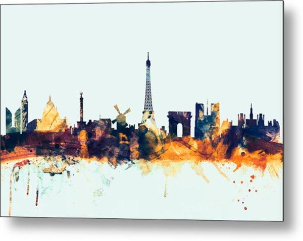 Paris France Skyline Metal Print