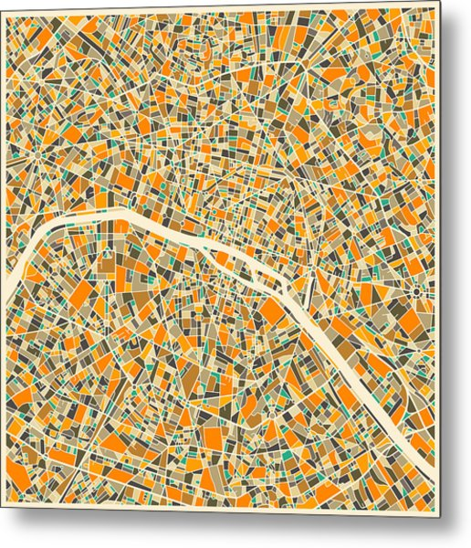 Paris Map Metal Print