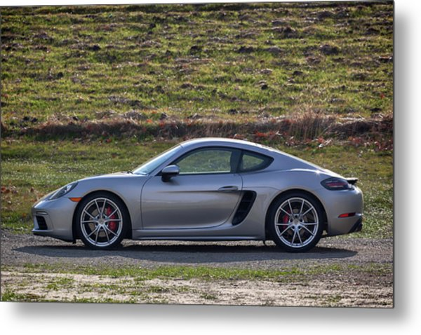 Metal Print featuring the photograph #porsche #718cayman S #print by ItzKirb Photography