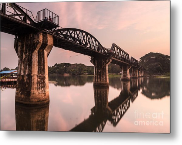 River Kwai Bridge Metal Print